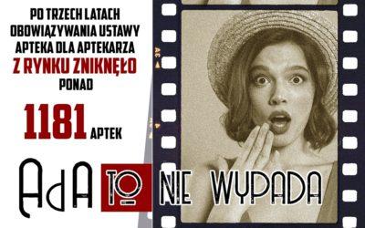 """Rynek apteczny w Polsce trzy lata po wejściu w życie """"Apteki dla Aptekarza"""" Prawie 1200 aptek mniej"""
