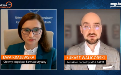 """""""Kwadrans z farmacją"""" z Ewą Krajewską Głównym Inspektorem Farmaceutycznym"""