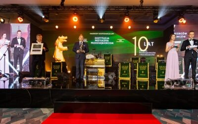 Marcin Piskorski wręczył nagrody gospodarcze podczas gali jubileuszu 10-lecia Związku Przedsiębiorców i Pracodawców